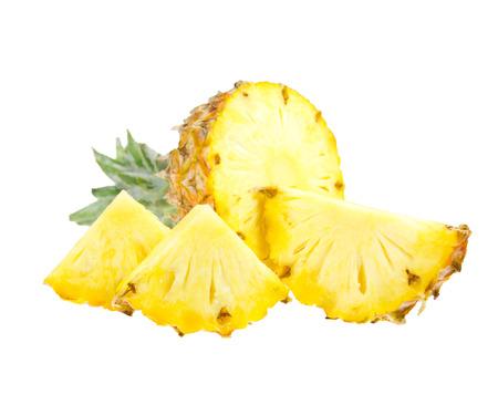 pineapple slice: Pineapple slice isolated on white background