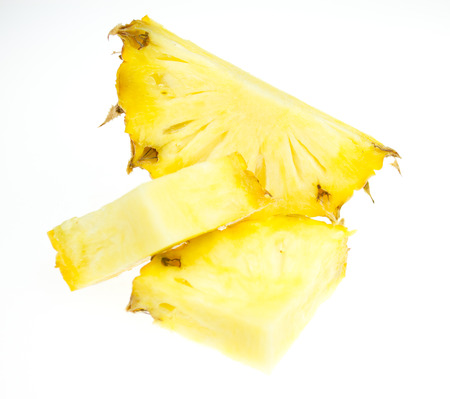 pulp: Pineapple slice isolated on white background