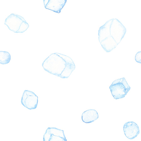 Ice cubes pattern isolated