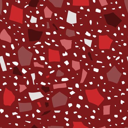 Terraazzo abstract texture vector seamless pattern background Vektoros illusztráció