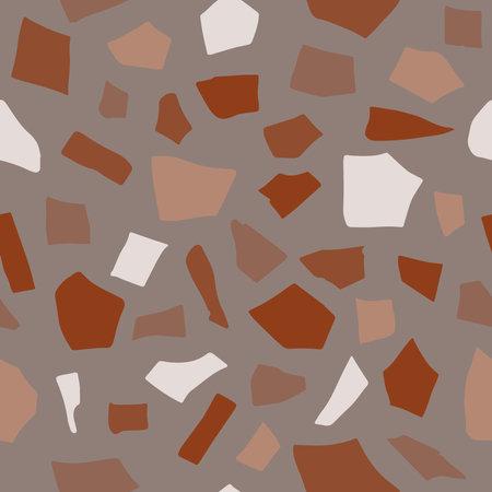 Terraazzo abstract texture vector seamless pattern background