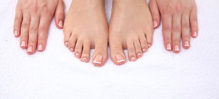 Péče o krásné ženě nohy. Reklamní fotografie