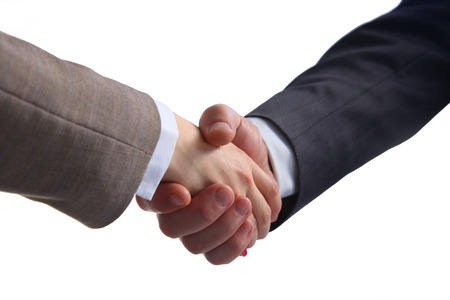 business handshake: Business handshake. Two businessman shaking hands with each other in the office.
