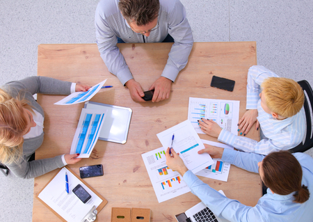 businessgroup: Group of business people working together Stock Photo