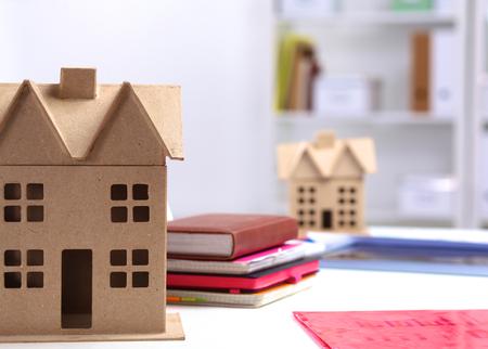 refurbishment: Designer shows a model of a new home.