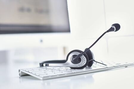 Communication support, call center and customer service help de