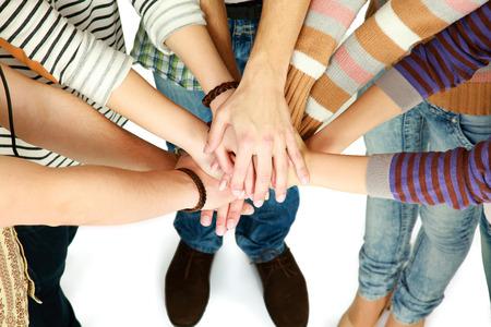 amistad: apretón de manos