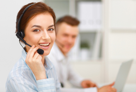 Call center Banque d'images