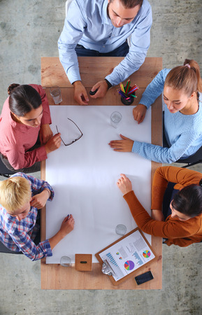 Business People on a Meeting Stock Photo