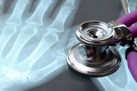 X-ray and stethoscope.