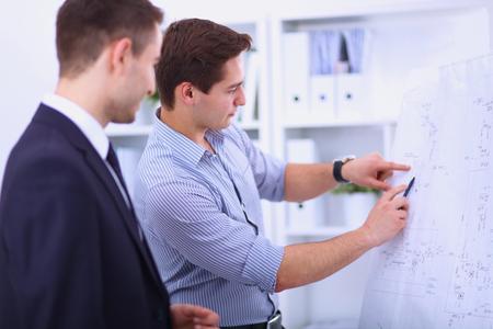 Business people talking on meeting at office Standard-Bild