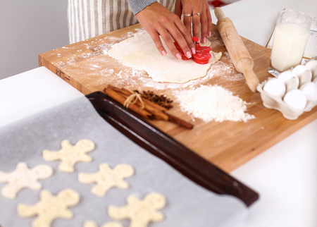 short crust pastry: Baking ingredients for shortcrust pastry, plunger