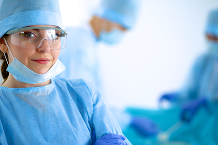 swap: Surgery team in the operating room