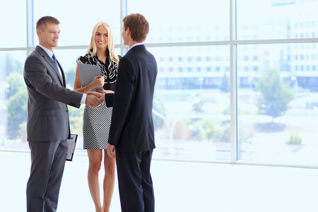 Business people shaking hands after meeting . Stock Photo - 44526513