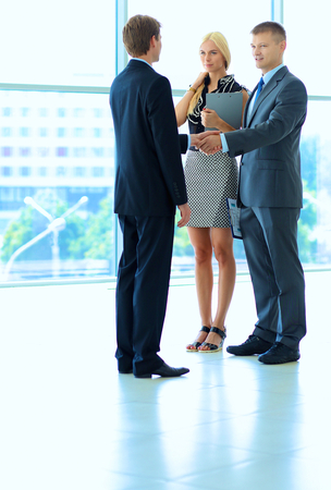 Business people shaking hands after meeting . Stock Photo - 44683737