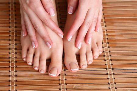 pamper: Shot of a beautiful womans feet