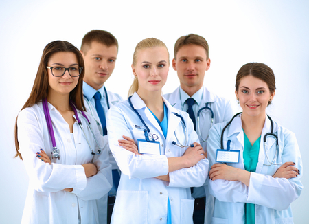 look pleased: Portrait of a team of medical professionals