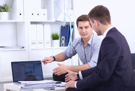 Business people talking on meeting at office, Standard-Bild