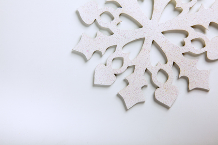 clear path: Snowflake on a white background