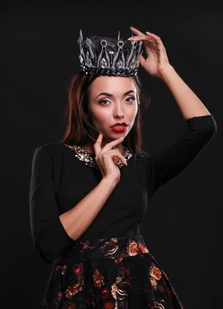 Beautiful girl in a crown Stock Photo