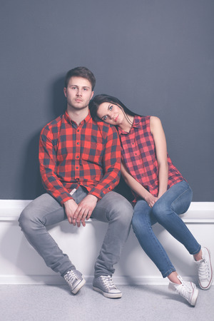 young lovely couple Stock Photo