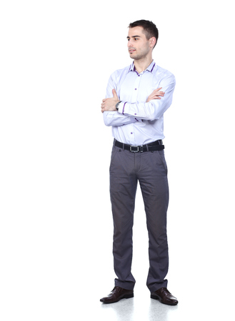 Portrait of young man isolated on white background Stock Photo