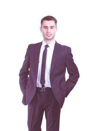 Portrait de jeune homme isolé sur fond blanc