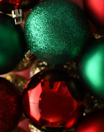 Christmas tree decoration isolated on wooden background.