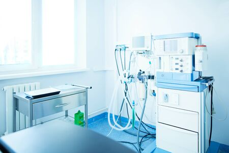 Interior of operating room in modern clinic. Stock Photo