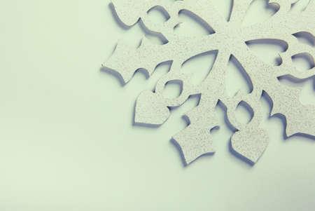 Snowflake on a white background