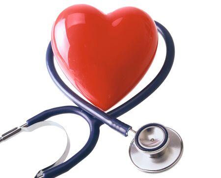 A stethoscope in the shape of a heart Standard-Bild