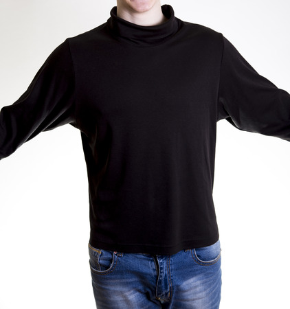 turtleneck: man figure in black  turtleneck sweater