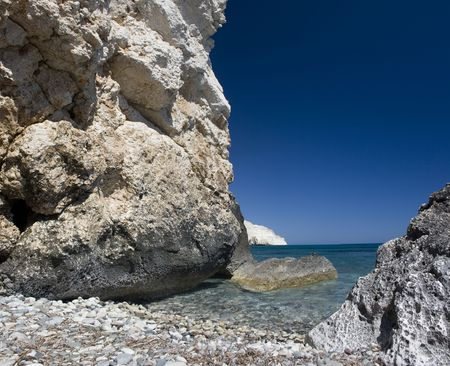 tou: Petra Tou Romiou Stock Photo