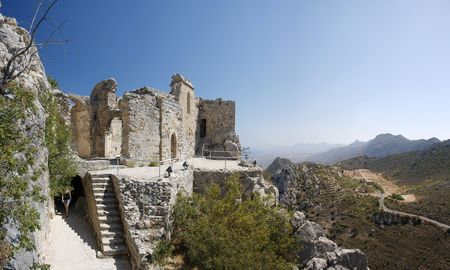 ruin: St. Hilarion - North cyprus Stock Photo