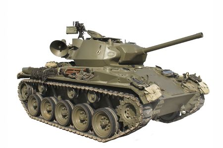 Vintage M24 Chaffee Tank Stock Photo