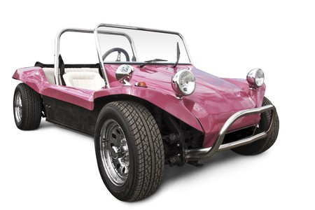 pink beach buggy