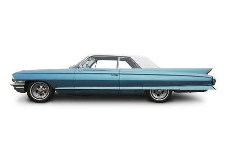 coche clásico: vista lateral de un coche americano de edad