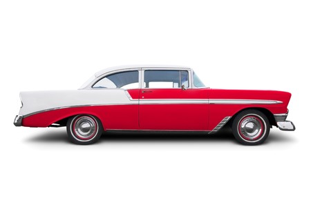 the fifties: Un coche antiguo americano