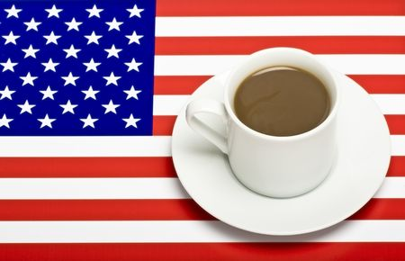 Coffee Cup on the US Flag
