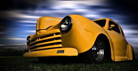 Yellow Car Standard-Bild