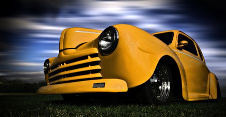 op maat: Gele auto