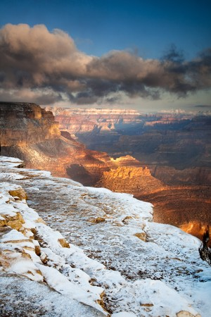 Grand Canyon, Yavapai Point in the snow