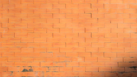 Smooth Warm Orange Brick Wall 版權商用圖片 - 39060368