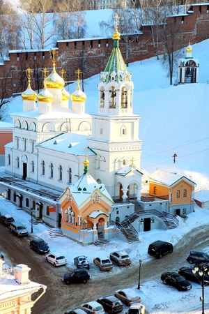 February view of John the Baptist Church Nizhny Novgorod Russia photo