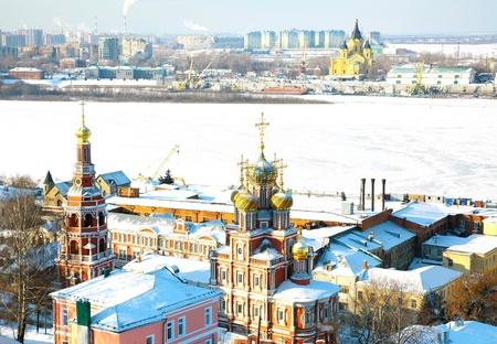Scenic February view Nizhny Novgorod Russia photo