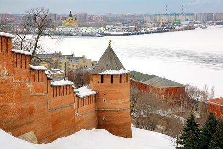 March view Nizhny Novgorod Kremlin Russia photo