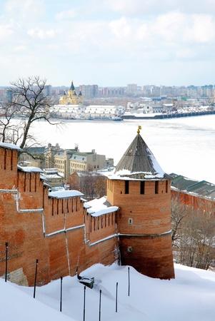 nizhny novgorod: April in Nizhny Novgorod Kremlin Russia Stock Photo
