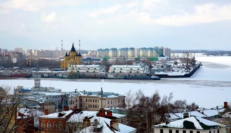 Port on confluence two rivers Nizhny Novgorod photo