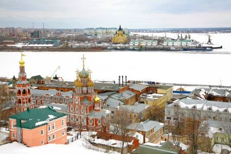 March snow view Nizhny Novgorod Russia photo