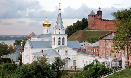 Sunset view Church of Elijah the Prophet and Kremlin Nizhny Novgorod Russia Stock Photo - 14524226